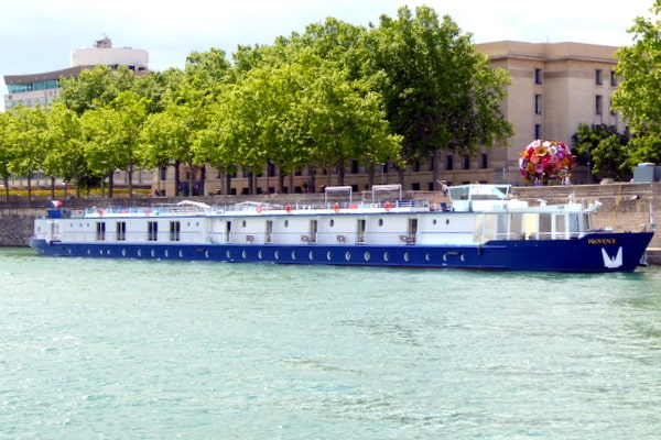 View of the Sofitel Lyon Bellecour from the Rhone