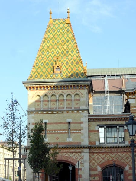 Tile roof of the Central Market Hall