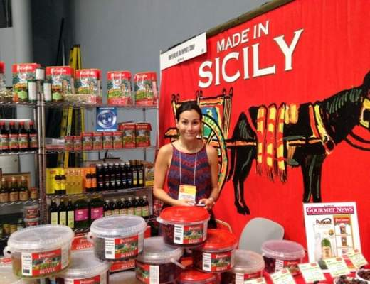 Foods of Sicily display at the Show