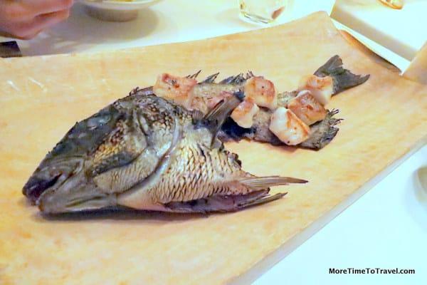 First-catch Montauk black fish