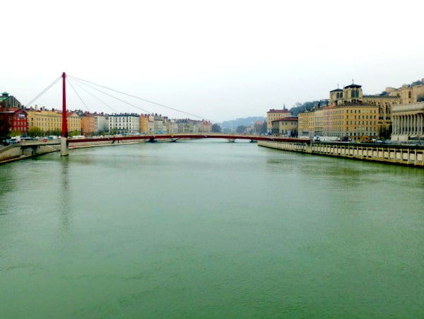 The Soane, one of two rivers with four riverbanks in Lyon
