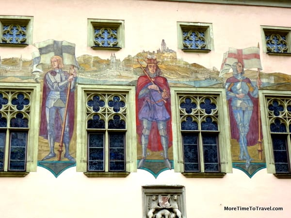 Mural on Altes Rathaus (Old Town Hall) in Passau