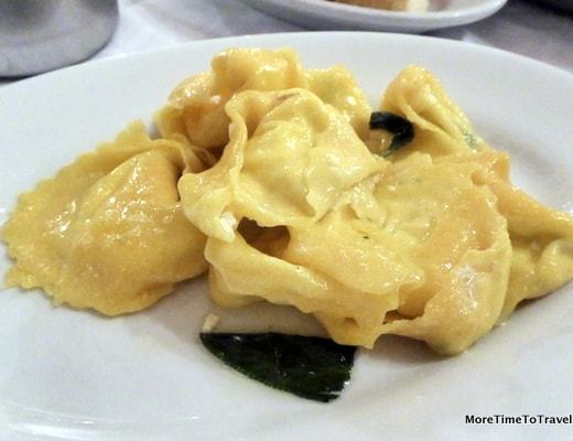 Tortelloni with Butter & Sage at Trattoria Anna Maria
