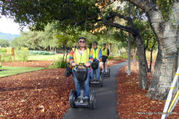 Tourists on Segways in Yountville