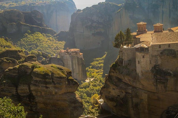 Varlaam Monastery sitting atop a Karst at Meteora, Greece (Credit: Travel Photo Discovery)