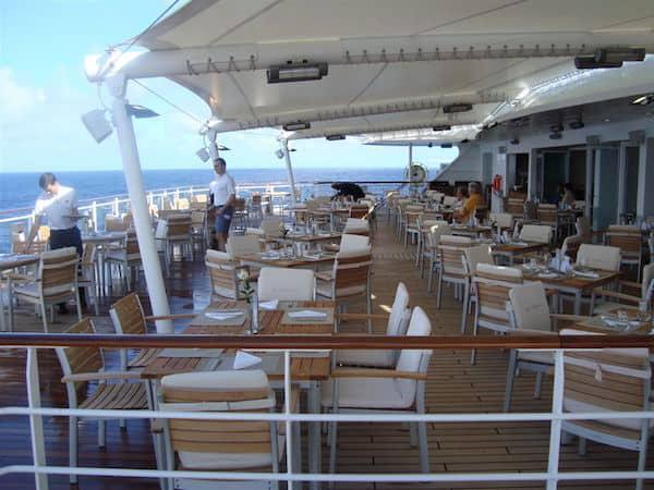 Breakfast on the stern deck