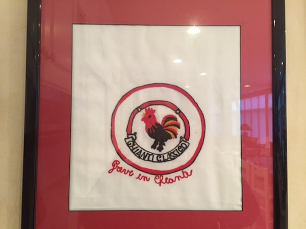 My Framed DIsh Towel from Greve in Chianti