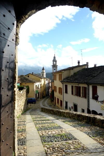 Another view of the town of Compiano from the Castello di Compiano
