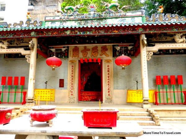 Exterior of the Tin Hau Temple