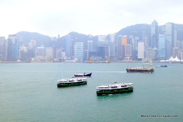 View of Victoria Harbour from the mall