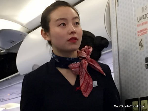 One of our flight attendants