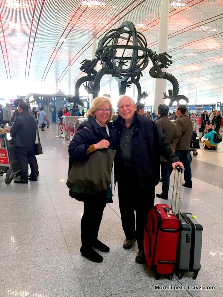 Leaving Beijing Airport
