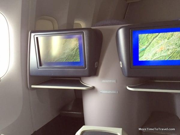 Oversized seatback screen