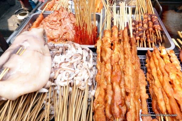 Savory street foods in Shanghai