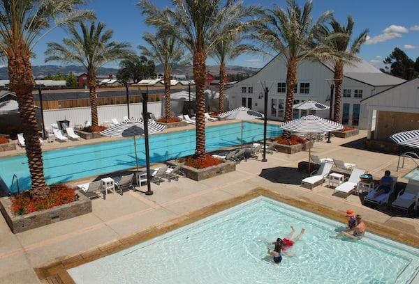 Kid-friendly pool on the grounds of the Carneros Inn (Photo credit: Carneros Inn)