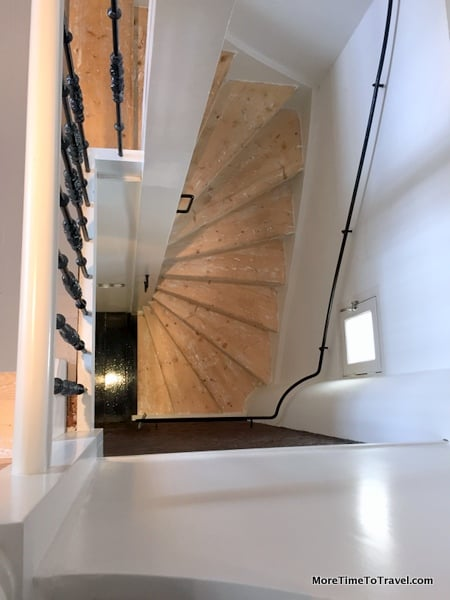 View of our Anne-Frank-staircase from above