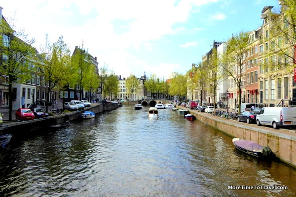 One of the gracious canals in Amsterdam