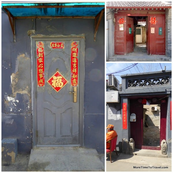 Traditional red doors