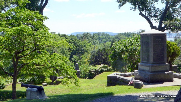 View from the Delevan gravesite
