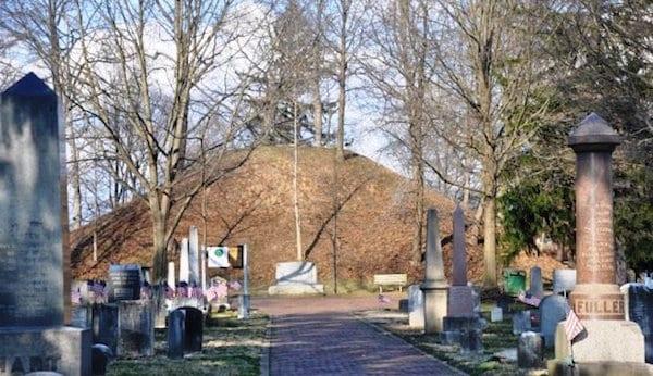 Burial mound at Mound Cemetery, Marietta, Ohio