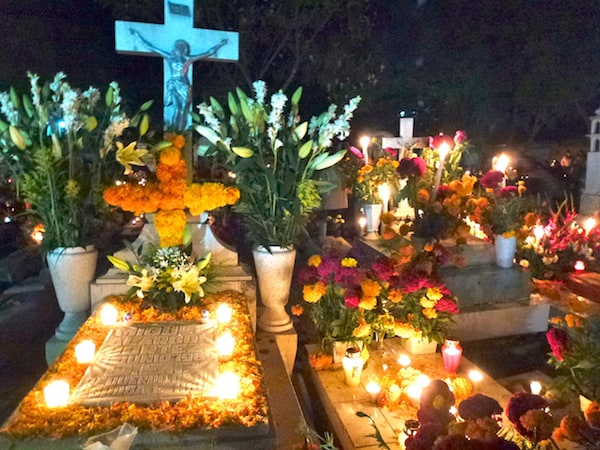 Graveyard during Day of the Dead in Oaxaca City