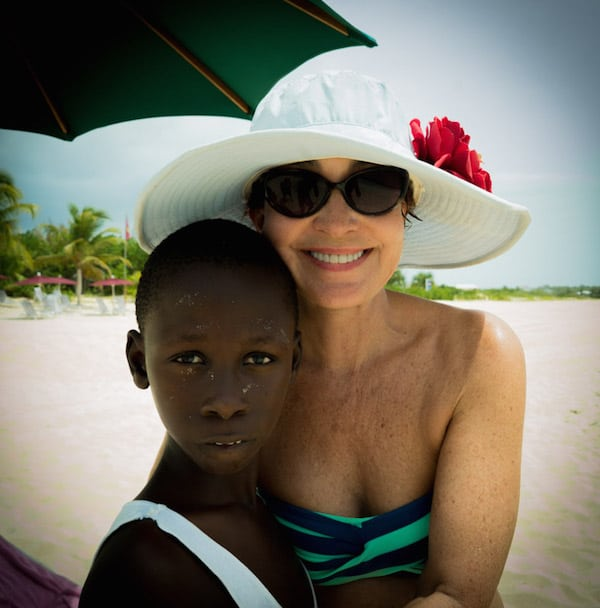 Annie Potts on Anguilla (Credit: James Hayman)