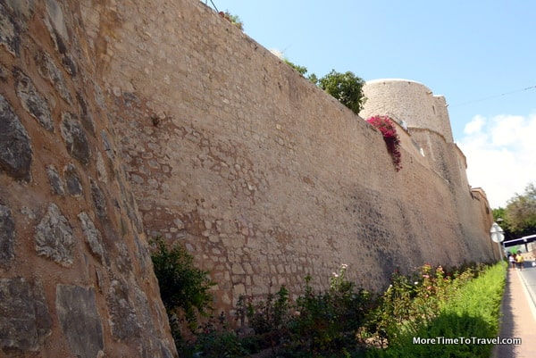 One of the well-preserved city walls