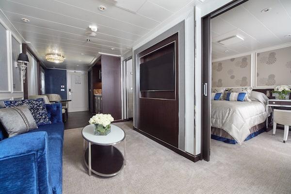 Penthouse suite on Seven Seas Explorer (credit: Regent Seven Seas Cruises)
