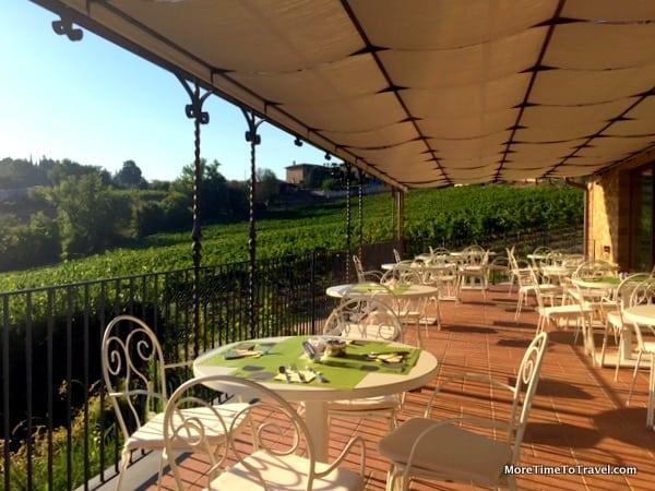 Breakfast terrace in the main building