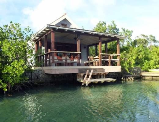 A lagoon cottage at Goldeneye