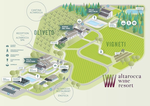 Map of the Resort (Credit: Altarocca Wine Resort)