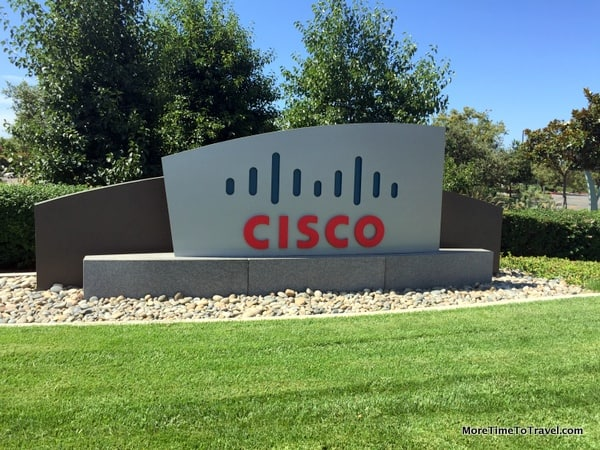One of the entrances to Cisco, across the street from the mall