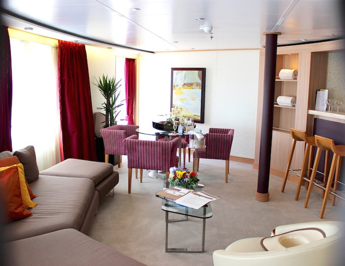 Our Owner's Suite on the Seabourn Odyssey (Credit: Maureen Hudson)