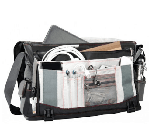 Compartments in the Trident Messenger Bag