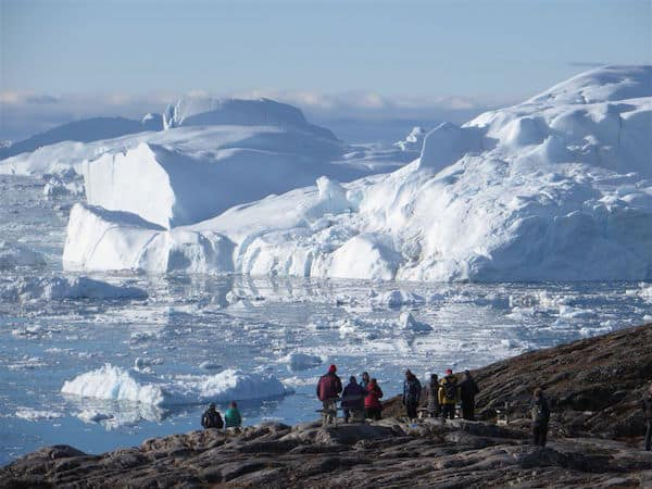 Ilulissat Icefjord in Western Greenland, a UNESCO World Heritage Site