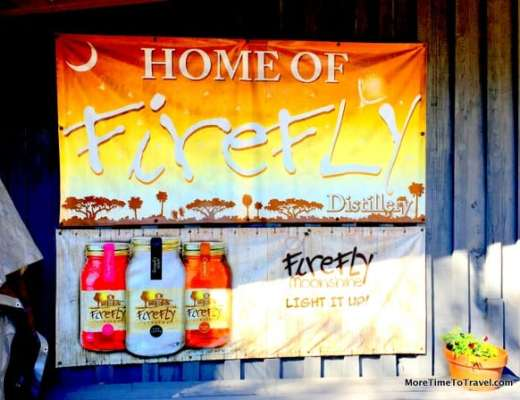 Banner outside Firefly Distillery