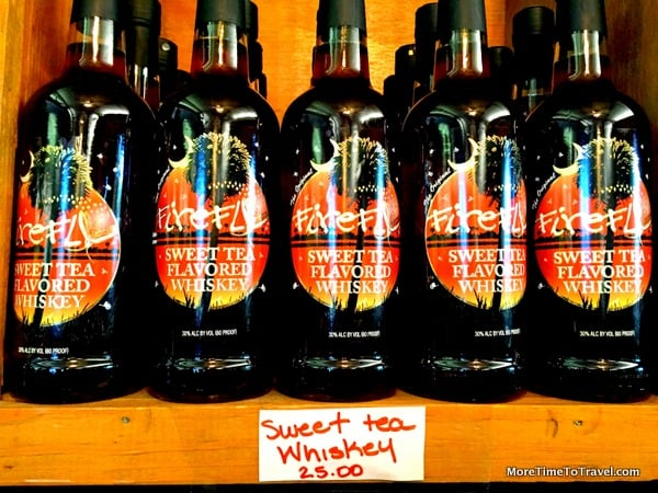 Firefly Sweet Tea Flavored Whiskey on tasting room shelves