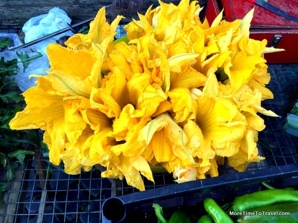 Squash blossoms (great for stuffing with ricotta)