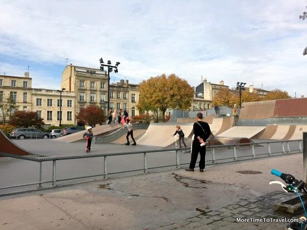 Skaters at play