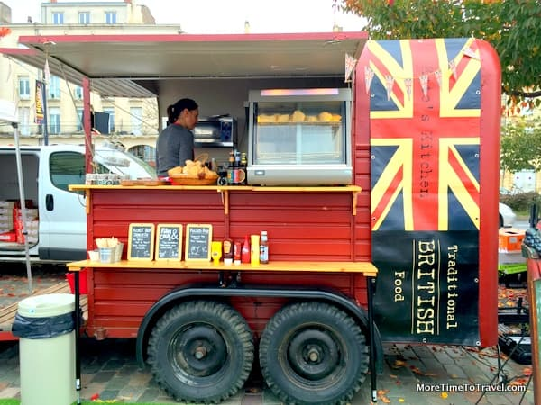 One of the food trucks