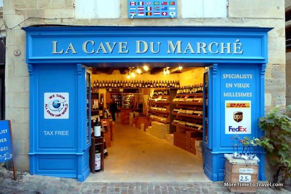 Cave du Marche, wine store in Sainte Emilion