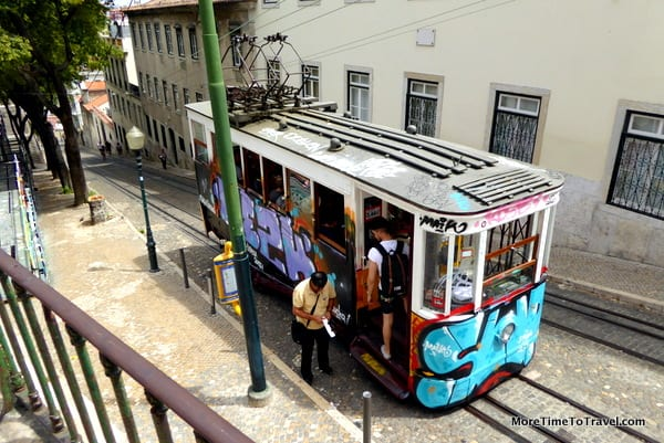 One of the tourist trams in Lisbon