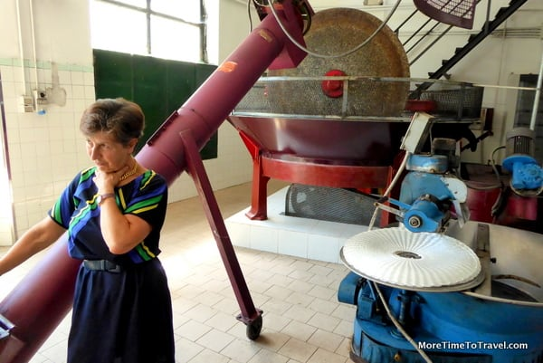 Emanuela Brizzi explains the traditions of her family-owned and operated olive oil factory in Montefalco