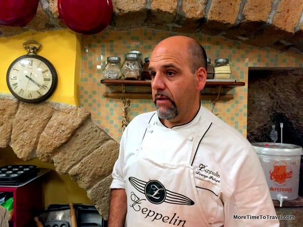 Chef Lorenzo Polegri of Zeppelin Restaurant in Orvieto