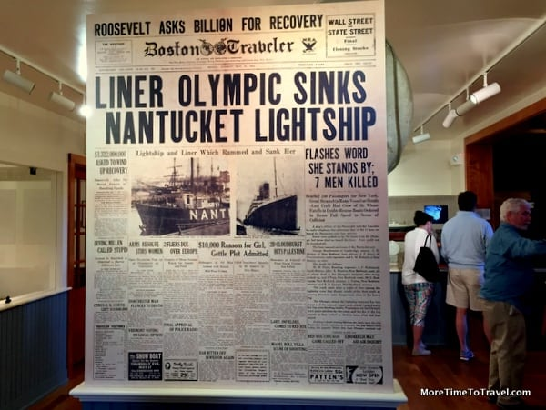 Reporting of sinking of Nantucket Lightship