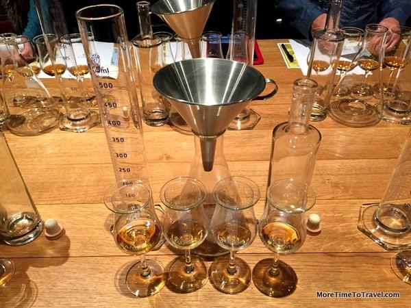 Setup for blending cognac at House of Camus