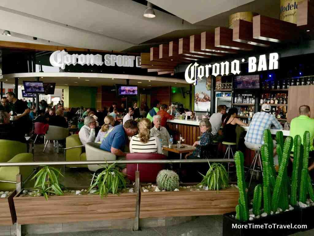 Busy Corona bar/restaurant in Terminal 2