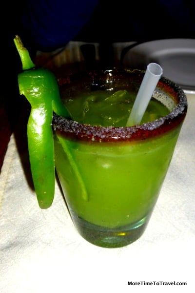 Jalpeno pepper margarita at Don Sanchez in San Jose del Cabo