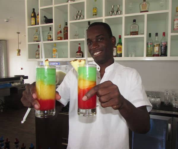 Colorful Bob Marley cocktails (Credit: John and Sandra Nowlan)
