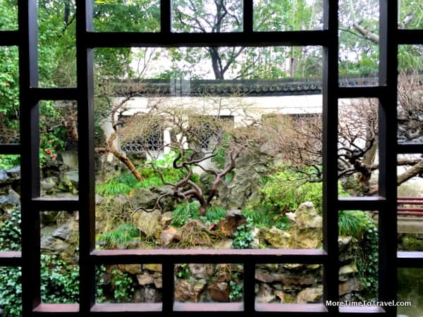 Courtyard view from pagoda at the Yuyuan Garden in Shanghai